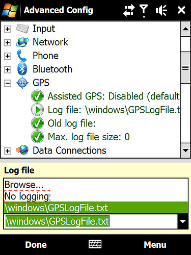Vá até Log File option. Double click, e mude a opção para No Logging
