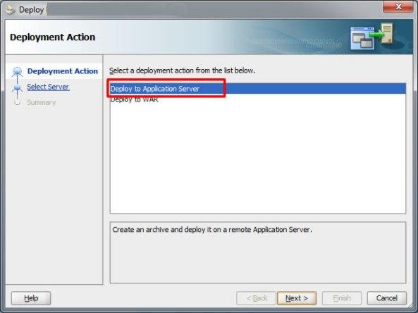 Deploy to application server